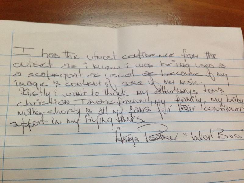 kartel's letter
