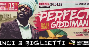Contest Perfect Giddimani: vinci 3 biglietti per il concerto di Roma
